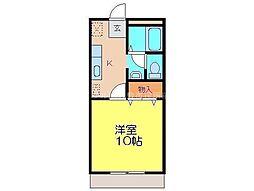 宮原マンション小溝B棟[1階]の間取り