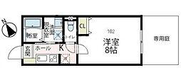 (仮称)フィカーサ鶴川 1階1Kの間取り