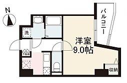 JR高徳線 栗林公園北口駅 徒歩7分の賃貸マンション 2階1Kの間取り