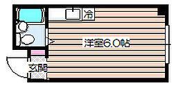 シャトー興栄[4階]の間取り