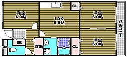 グリーンハイツ芝II[2階]の間取り