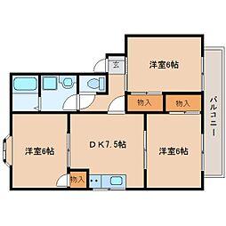 静岡県静岡市清水区中矢部町の賃貸アパートの間取り