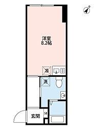 IMEX白金 3階ワンルームの間取り