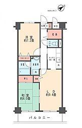 サン ボナール宮崎台[305号室]の間取り