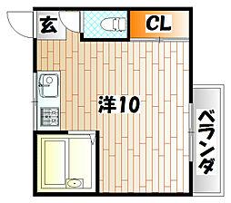TANAKAハイツII[2階]の間取り