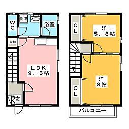 野上コーポ[2階]の間取り
