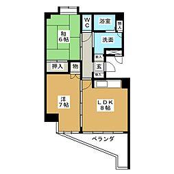第32オーシャンハイツ[4階]の間取り