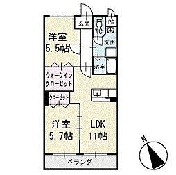 アビタシオンA 1階[102号室]の間取り