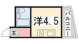 姫路ソニーハイツ[301号室]の間取り