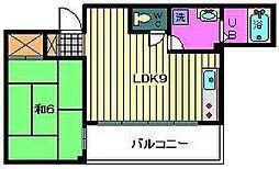 埼玉県川口市新井町の賃貸マンションの間取り