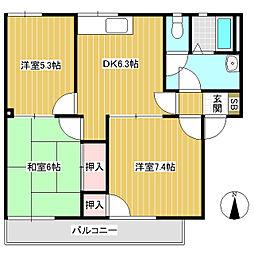 フレグランスミール B棟[2階]の間取り