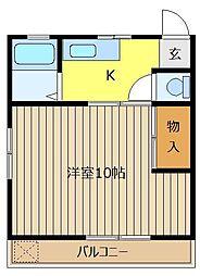 サンハウス松本C[103号室]の間取り