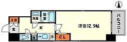 エスリード大阪心斎橋 10階1Kの間取り