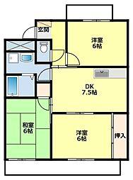 愛知県豊田市朝日町2丁目の賃貸マンションの間取り