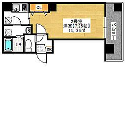 金太郎ヒルズ243 松ケ谷 9階1Kの間取り