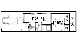 [テラスハウス] 兵庫県川西市下加茂1丁目 の賃貸【兵庫県 / 川西市】の間取り