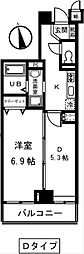 東京都渋谷区代々木3丁目の賃貸マンションの間取り