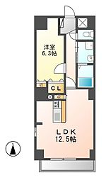 P−SQUARE Shumoku[12階]の間取り