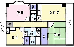 東京都町田市金森東2丁目の賃貸マンションの間取り