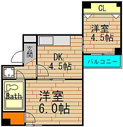 ファミール江戸堀[5階]の間取り
