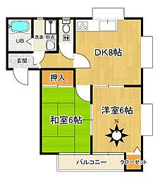 栃木県日光市瀬尾の賃貸アパートの間取り