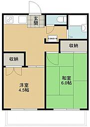 モンシャトー小畑[105号室号室]の間取り