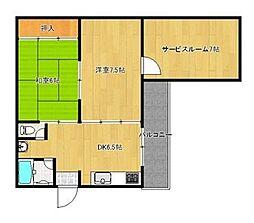 サンシャイン六本松[301号室]の間取り