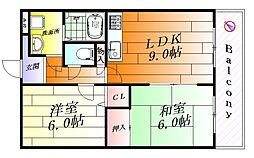 プラムディーセント[1階]の間取り