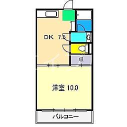 シルキーハイツ[2階]の間取り