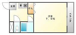 ラヴィール山手町[2階]の間取り