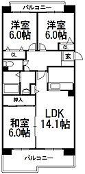 メゾンドルチェ白石弐番館[2階]の間取り