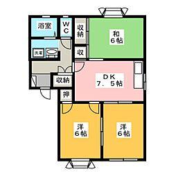 ドミ・アゼリアII C棟[1階]の間取り