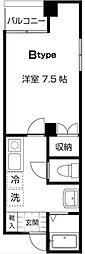東京都中央区日本橋堀留町1丁目の賃貸マンションの間取り
