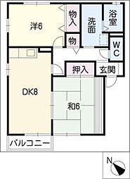 メゾン曙[1階]の間取り