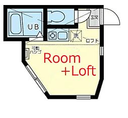 相鉄本線 和田町駅 徒歩7分の賃貸アパート 1階ワンルームの間取り