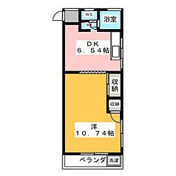 コーポコーデン[2階]の間取り