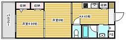 大阪府大阪市西成区旭1丁目の賃貸マンションの間取り