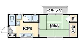 メゾン福田[201号室]の間取り