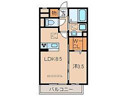 サンライズ湊II[1階]の間取り