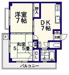 新村ビル[2階]の間取り