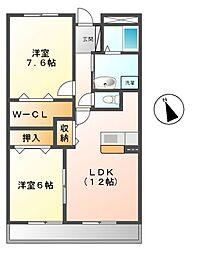 ヴェルハイム[2階]の間取り