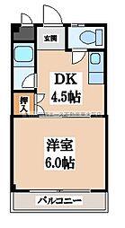 桜町OKマンション[3階]の間取り