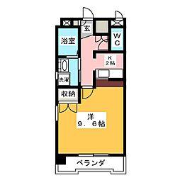 ウイングステージ御器所[3階]の間取り