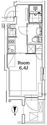 東京メトロ丸ノ内線 四谷三丁目駅 徒歩7分の賃貸マンション 地下1階1Kの間取り