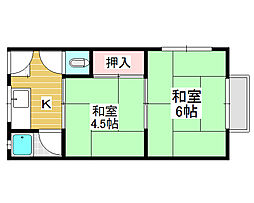 柏木町アパート[2階]の間取り