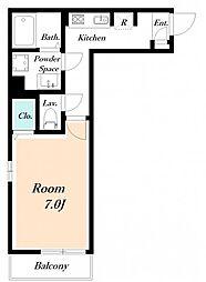 仮) 海楽2丁目D-ROOM計画[203号室]の間取り