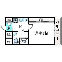 FJジェネラス8th[3階]の間取り