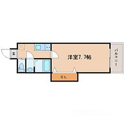 ラグゼ新大阪II[10階]の間取り