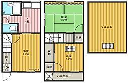 コーポ松江[103号室]の間取り