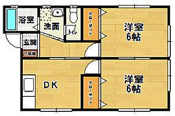 ソレイユ 4・5[5-202号室]の間取り